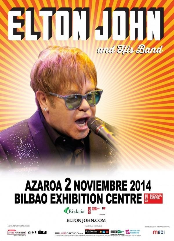 Elton John actuará en noviembre en el BEC de Barakaldo, 29 años después de su último concierto en Euskadi