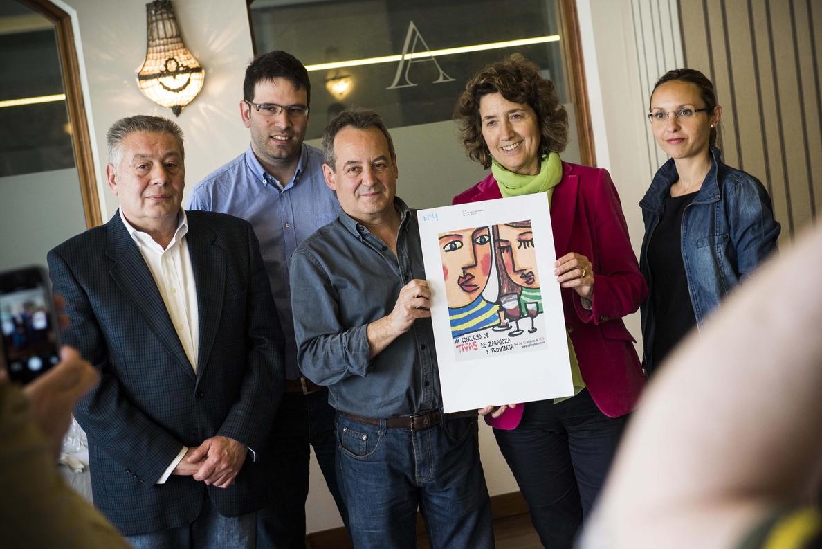 El chino Rui Xu, ganador del cartel anunciador del XX Concurso de Tapas de Zaragoza y Provincia