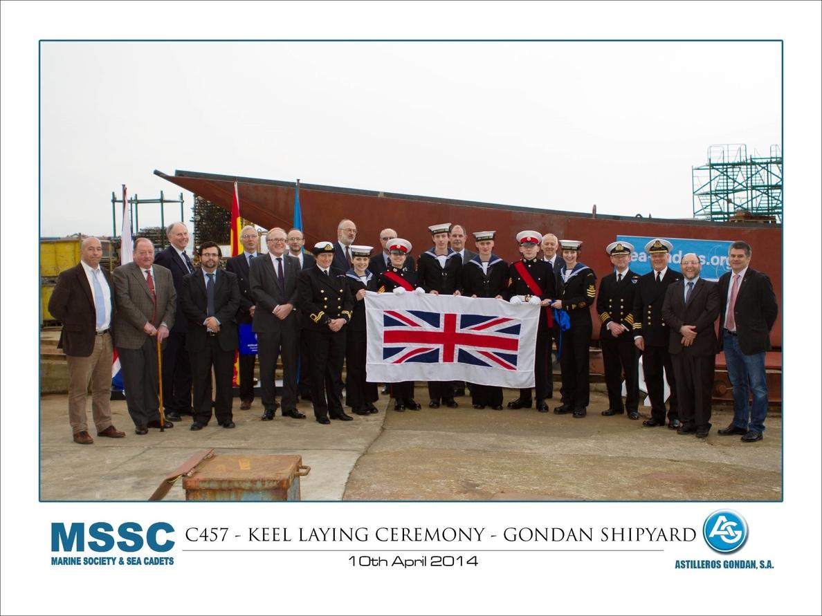 Astilleros Gondán pone la quilla del buque escuela que construye para Marine Society & Sea Cadets