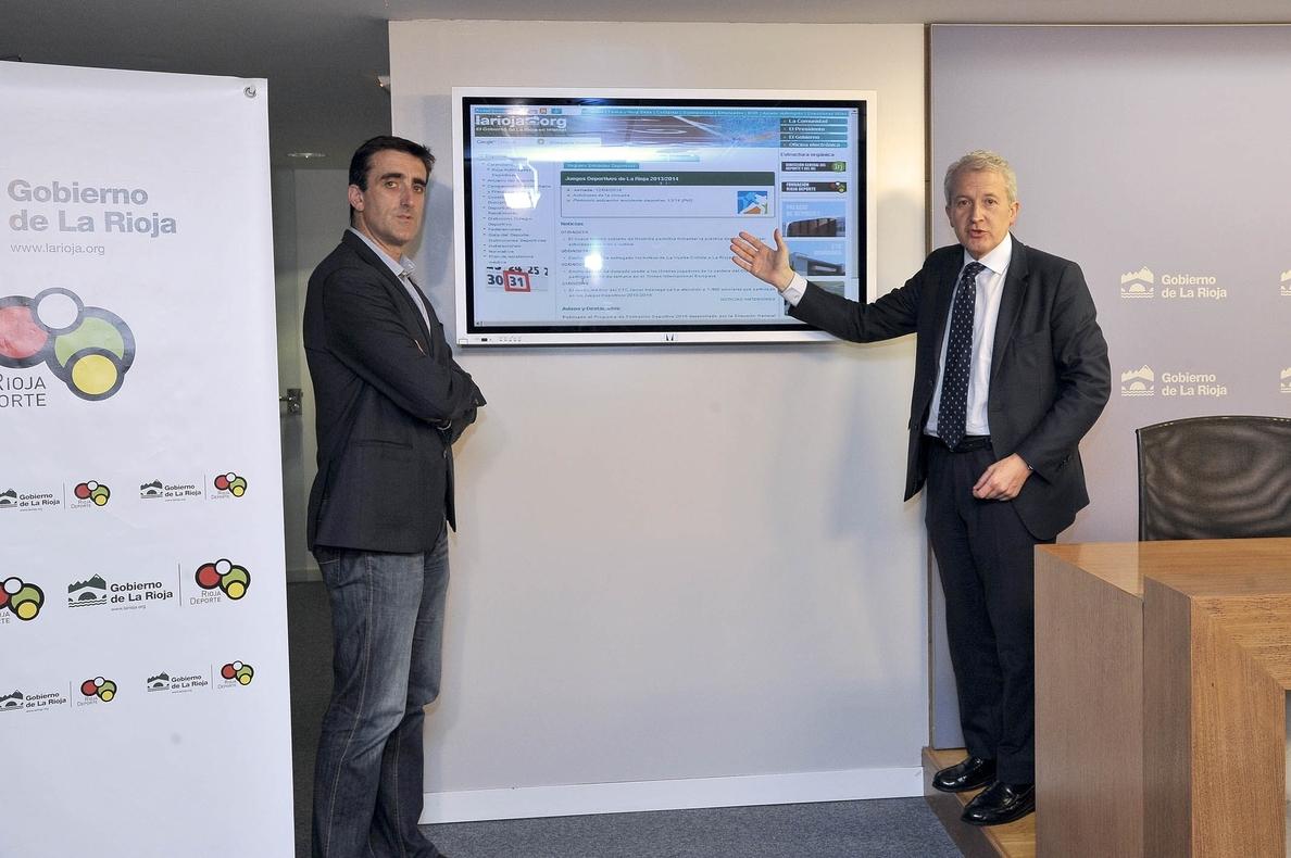 El Gobierno regional renueva la web de La Rioja Deporte con más contenidos y un nuevo calendario de actividades