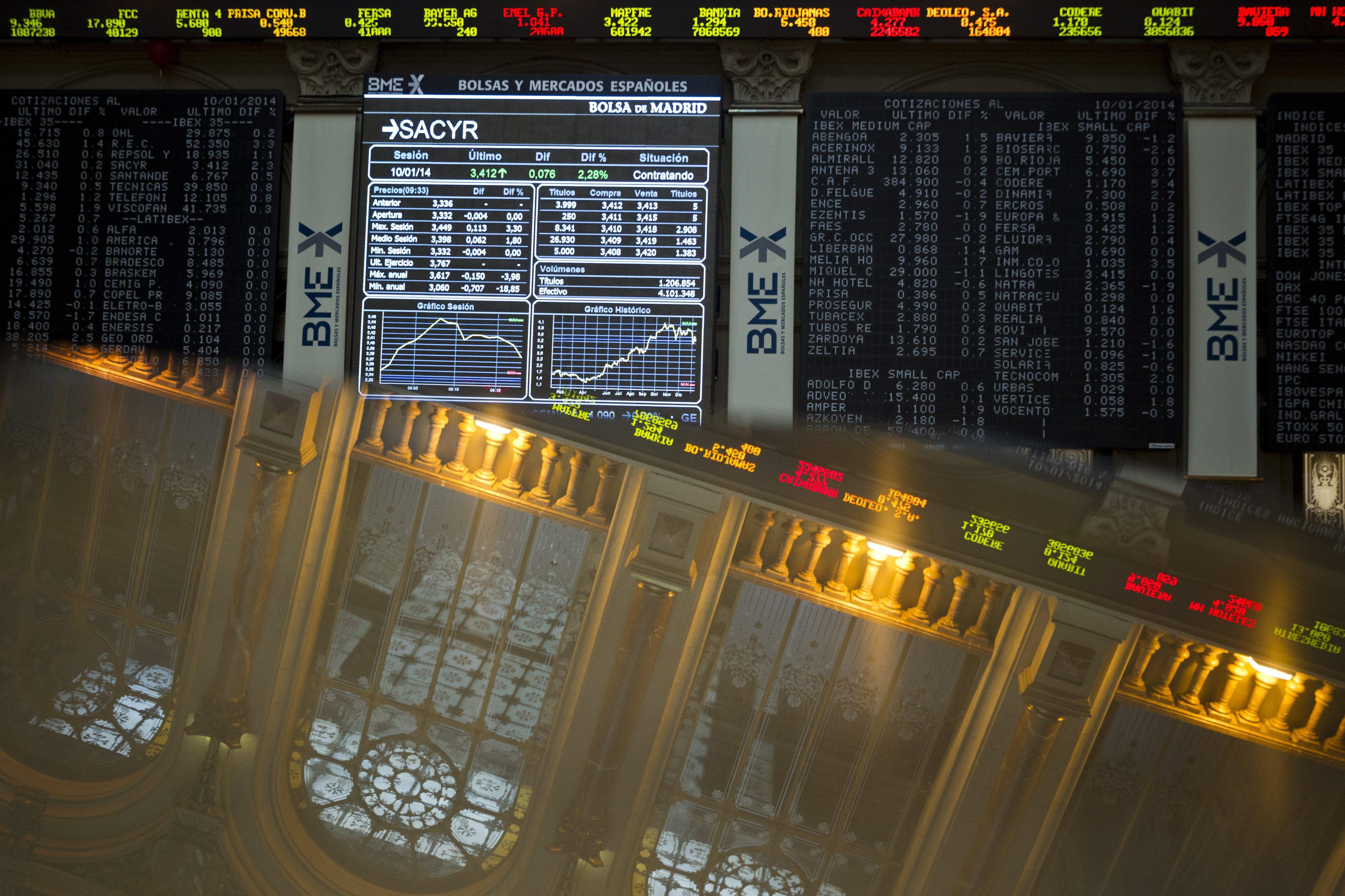 El IBEX cae el 1,17 por ciento lastrado por Iberdrola y otros grandes valores