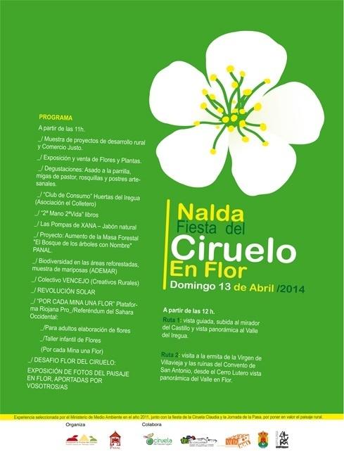 Nalda acoge este domingo la fiesta del Ciruelo en Flor, con visitas, degustaciones y actividades artísticas