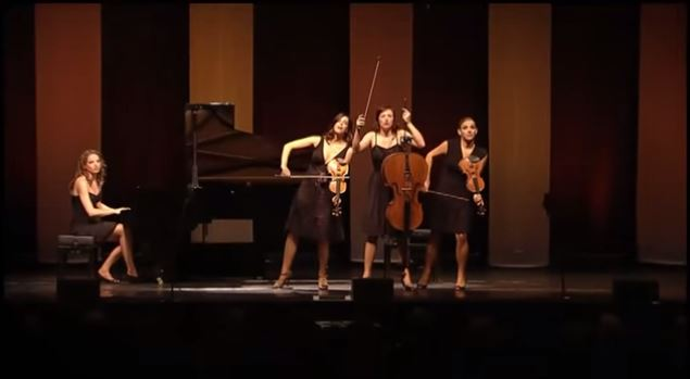 Cuatro mujeres llenas de talento y humor convierten »Verano» de Vivaldi en una competición