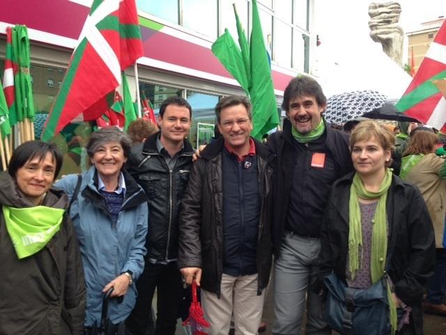 Los abertzales marchan por Pamplona para reclamar la independencia