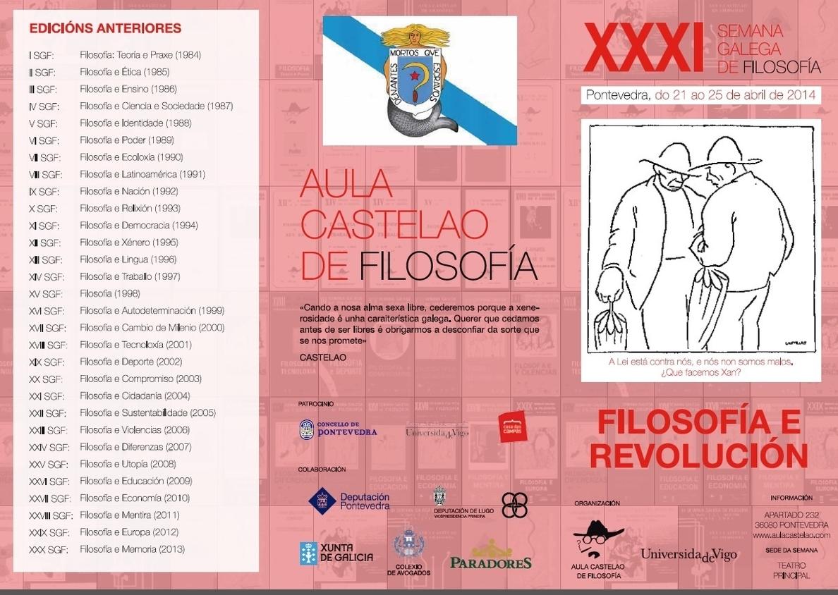 Terry Eagleton y Santiago Alba Rico abren este lunes la semana de »Filosofía e Revolución» de Pontevedra