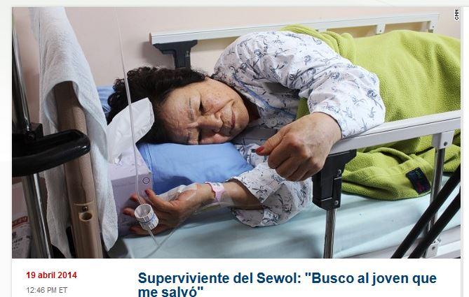 Una superviviente del ferry Sewol: «busco al joven que me salvó»