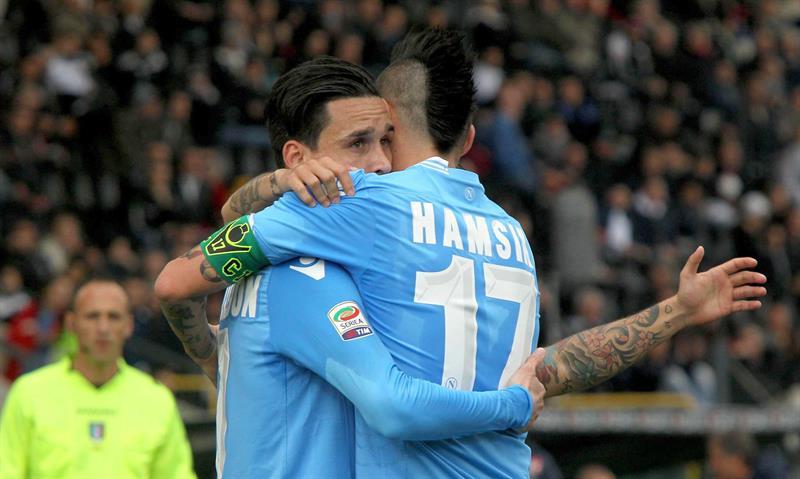 Callejón marcó en el empate del Nápoles y la »Fiore» perdió con la Roma