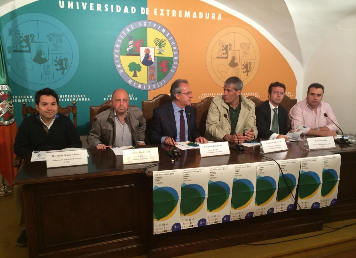 Más de 350 deportistas participarán en los Campeonatos Universitarios de Pádel, Ajedrez y Fútbol 7