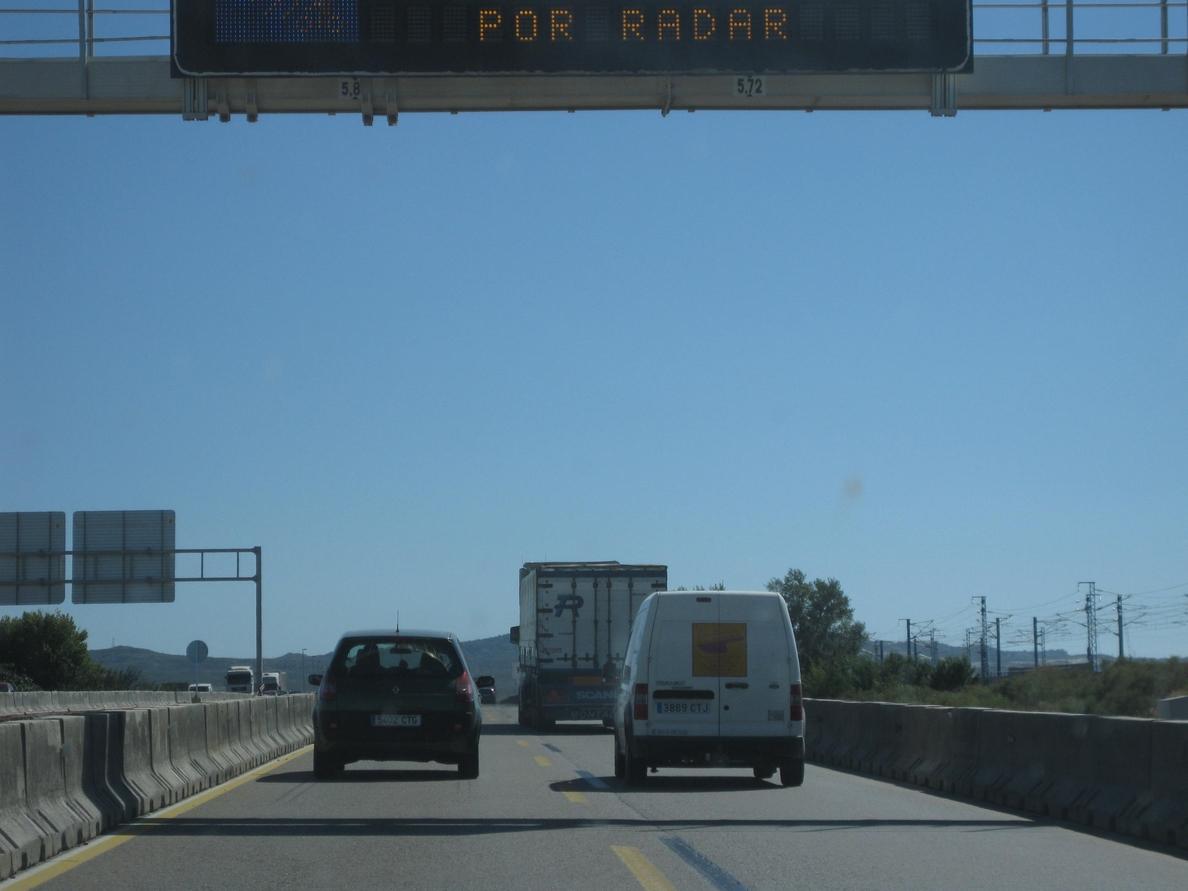 Continúan las retenciones en la autovía A-7, a la altura de Murcia