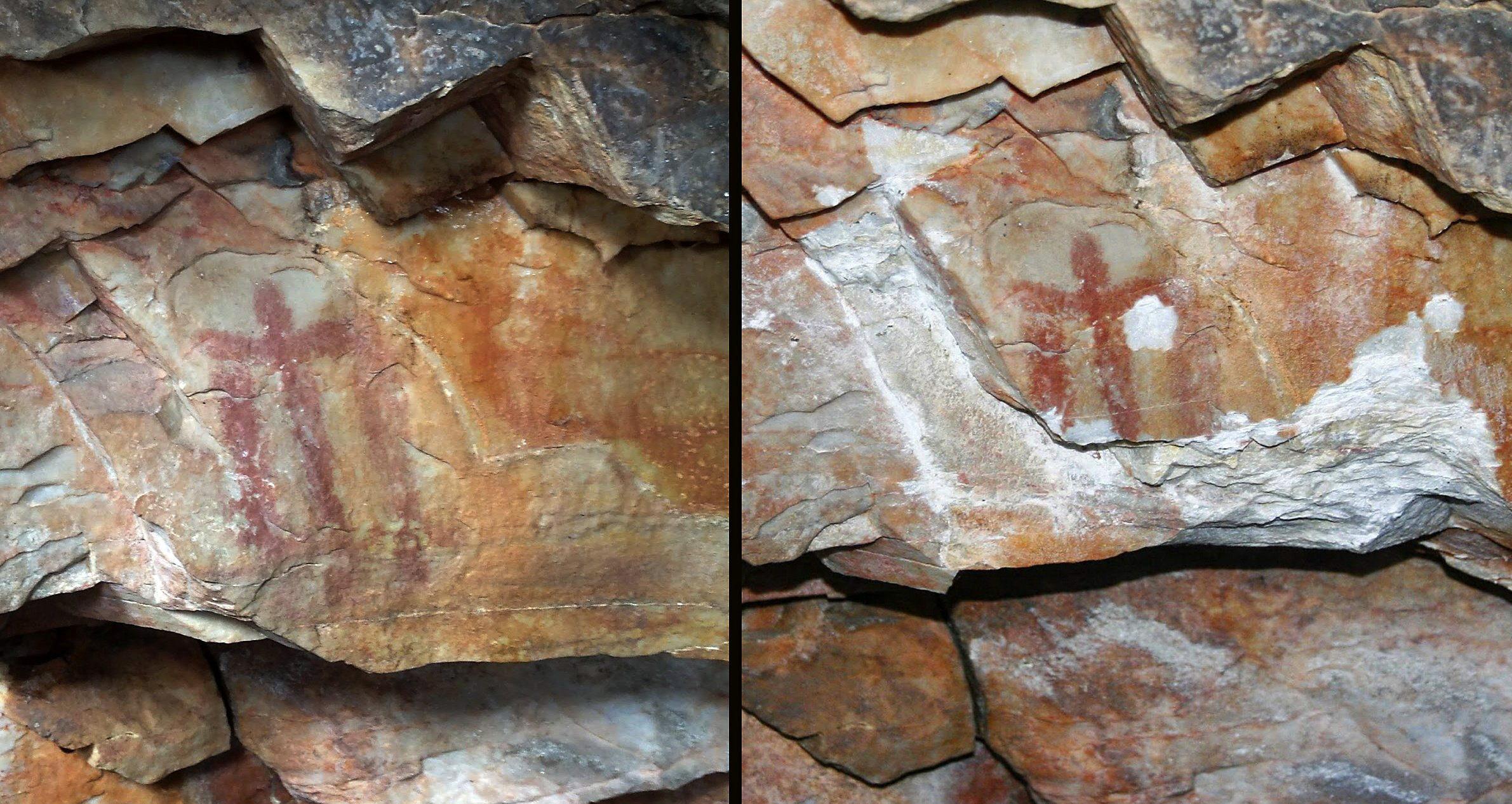 Destrozan una pintura rupestre patrimonio de la humanidad en cueva de Jaén