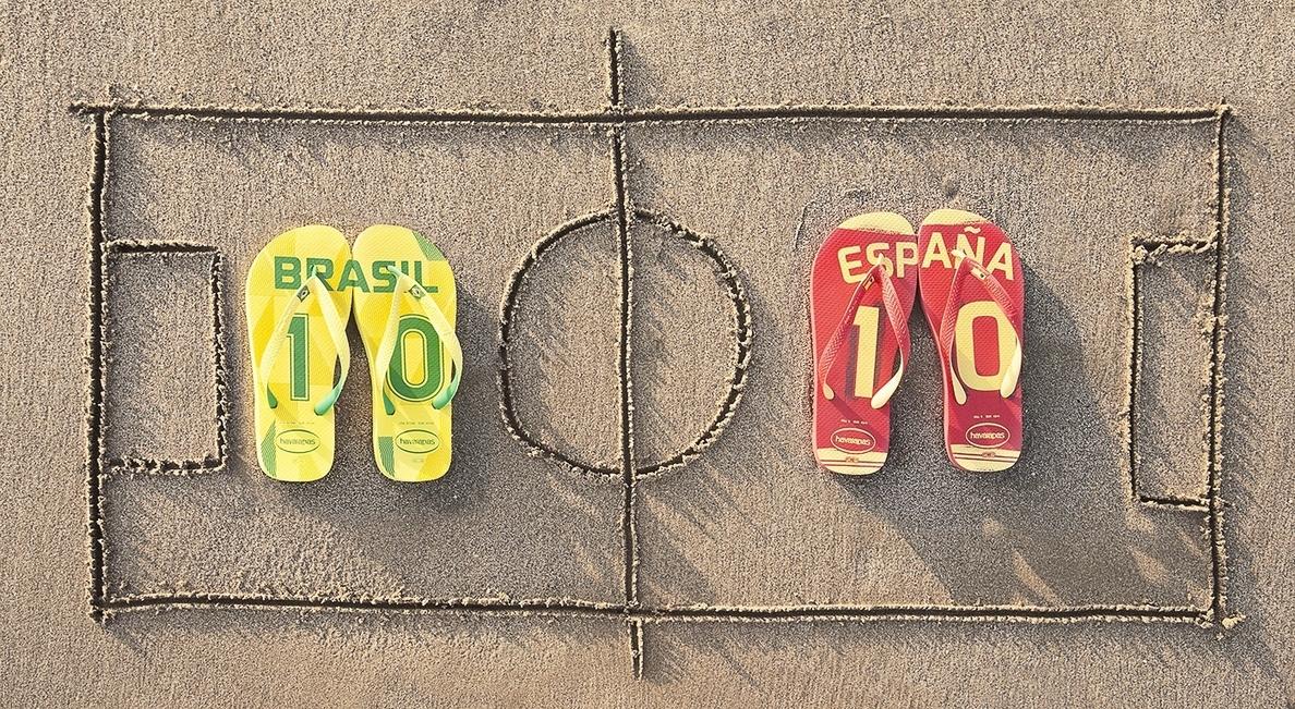Havaianas lanza unas zapatillas con los colores de las selecciones de Brasil 2014