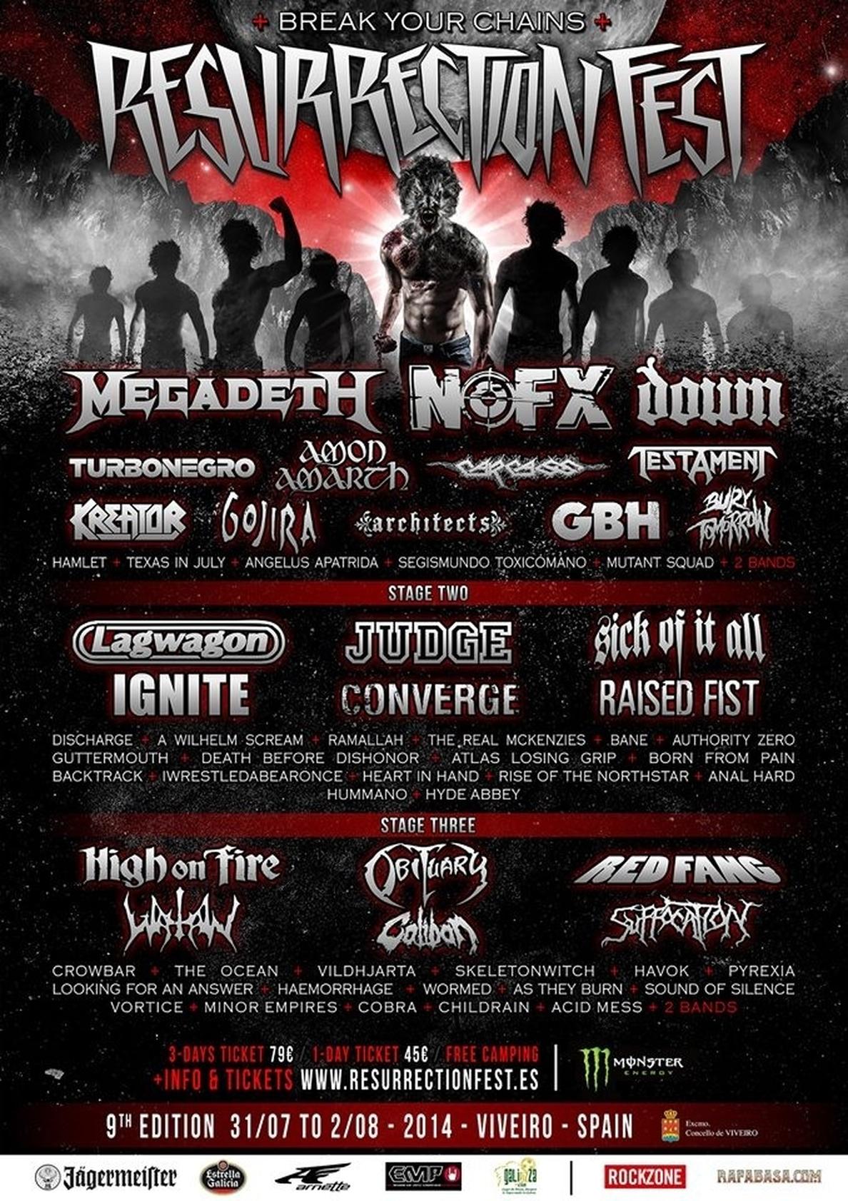 Megadeth y Lagwagon se suman al Resurrection Fest