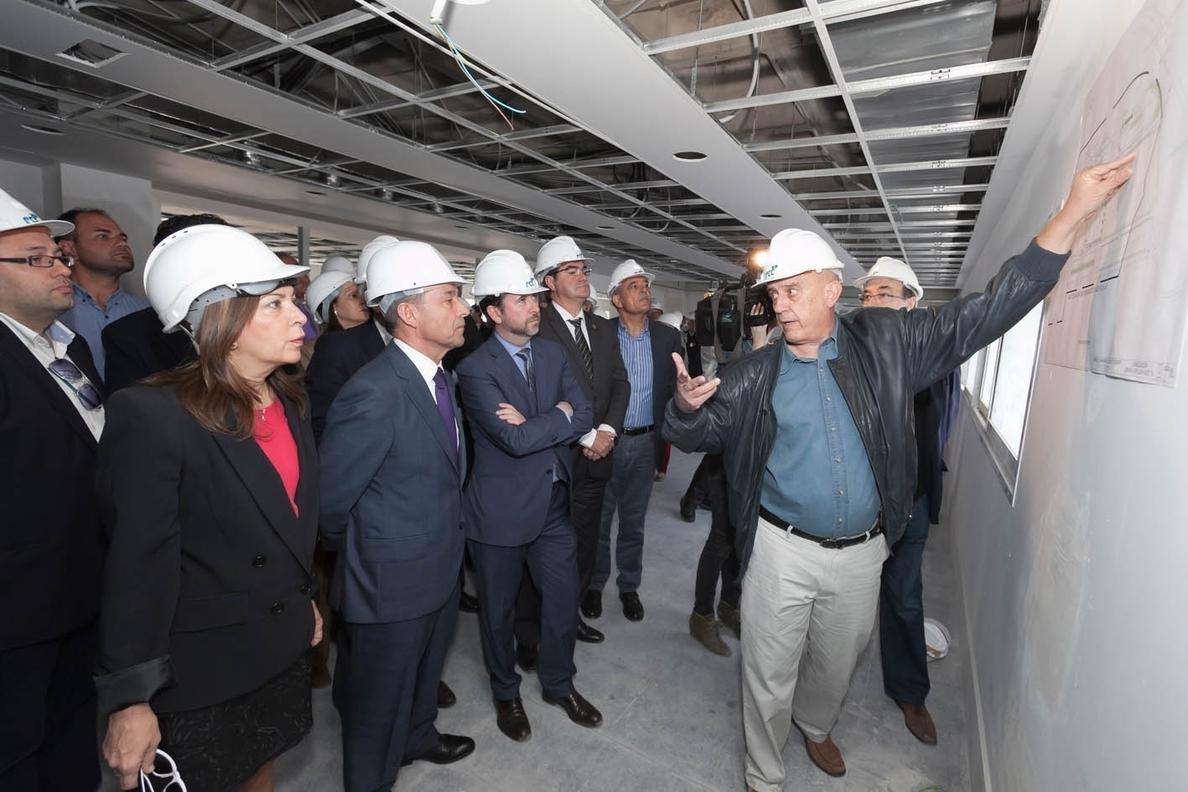 Rivero prevé que las obras del hospital del sur de Tenerife concluyan a final de año