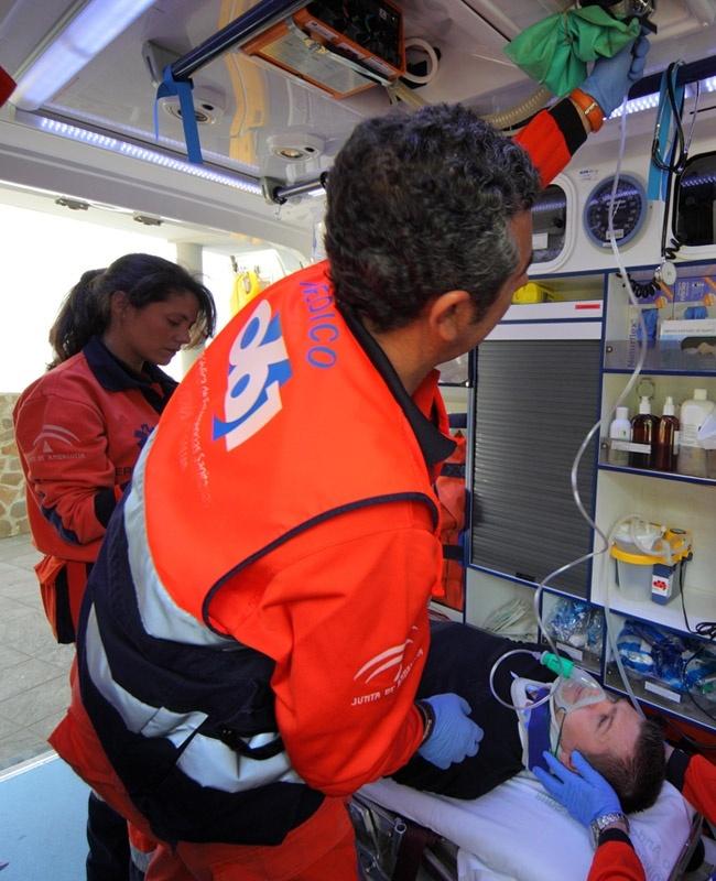 S.Los centros del 061 recibieron un 20% más de peticiones de asistencia por accidentes de tráfico en Andalucía
