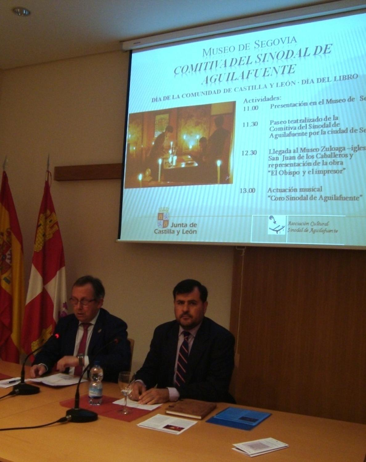 Los espectáculos del Sinodal de Aguilafuente, primer incunable de España, se trasladarán a Segovia por el Día del Libro