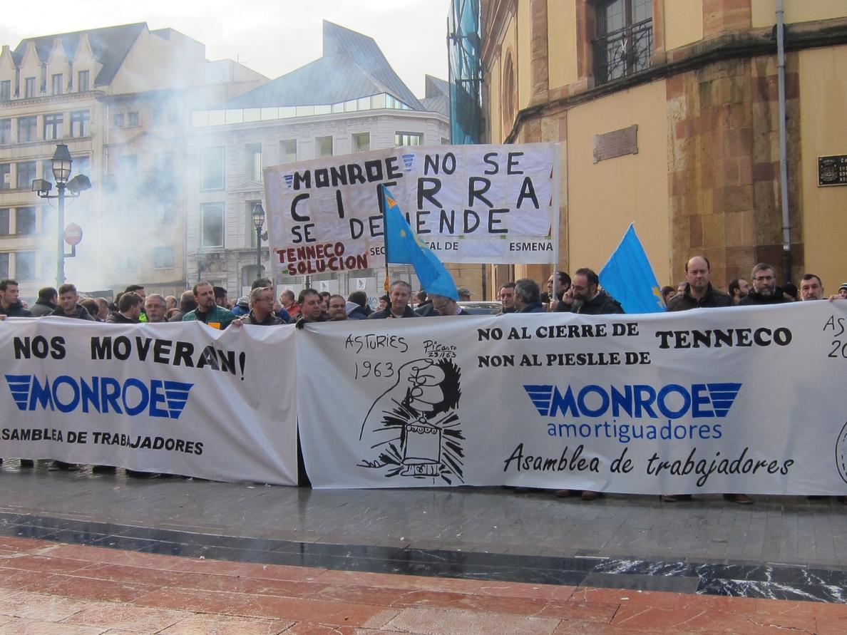 El comité de Tenneco en Gijón pedirá a Industria una ley que evite deslocalizaciones de empresas