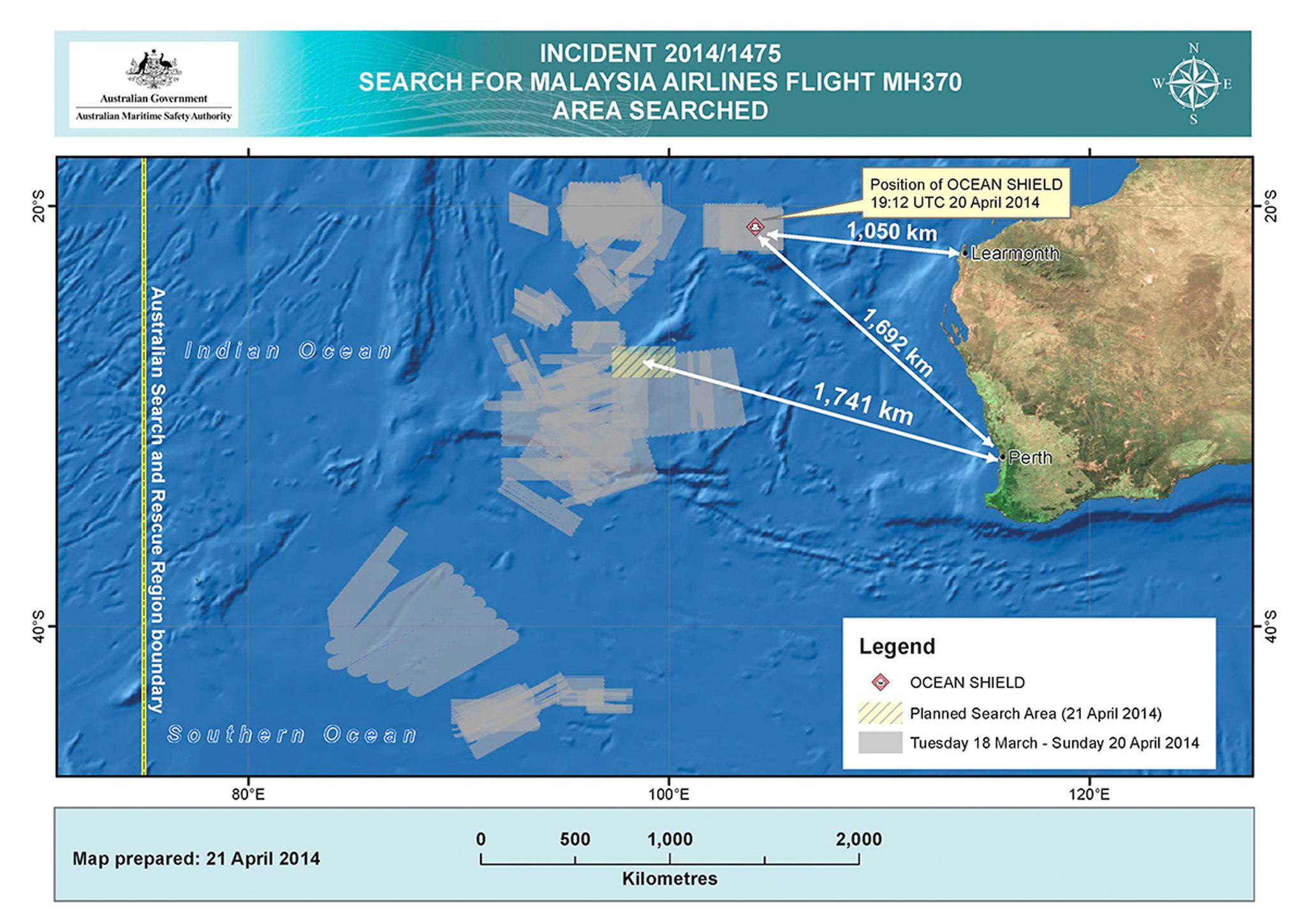 Concluye sin resultados la novena misión de la búsqueda del Boeing 777