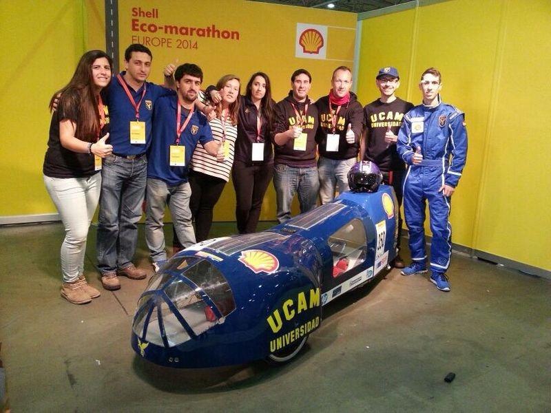 El coche solar de la UCAM compite este fin de semana la Shell-Eco Marathon en Rotterdam