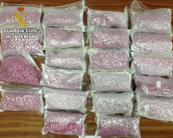 Detenidos en el puerto de Denia dos hombres que transportaban 54.000 pastillas de éxtasis