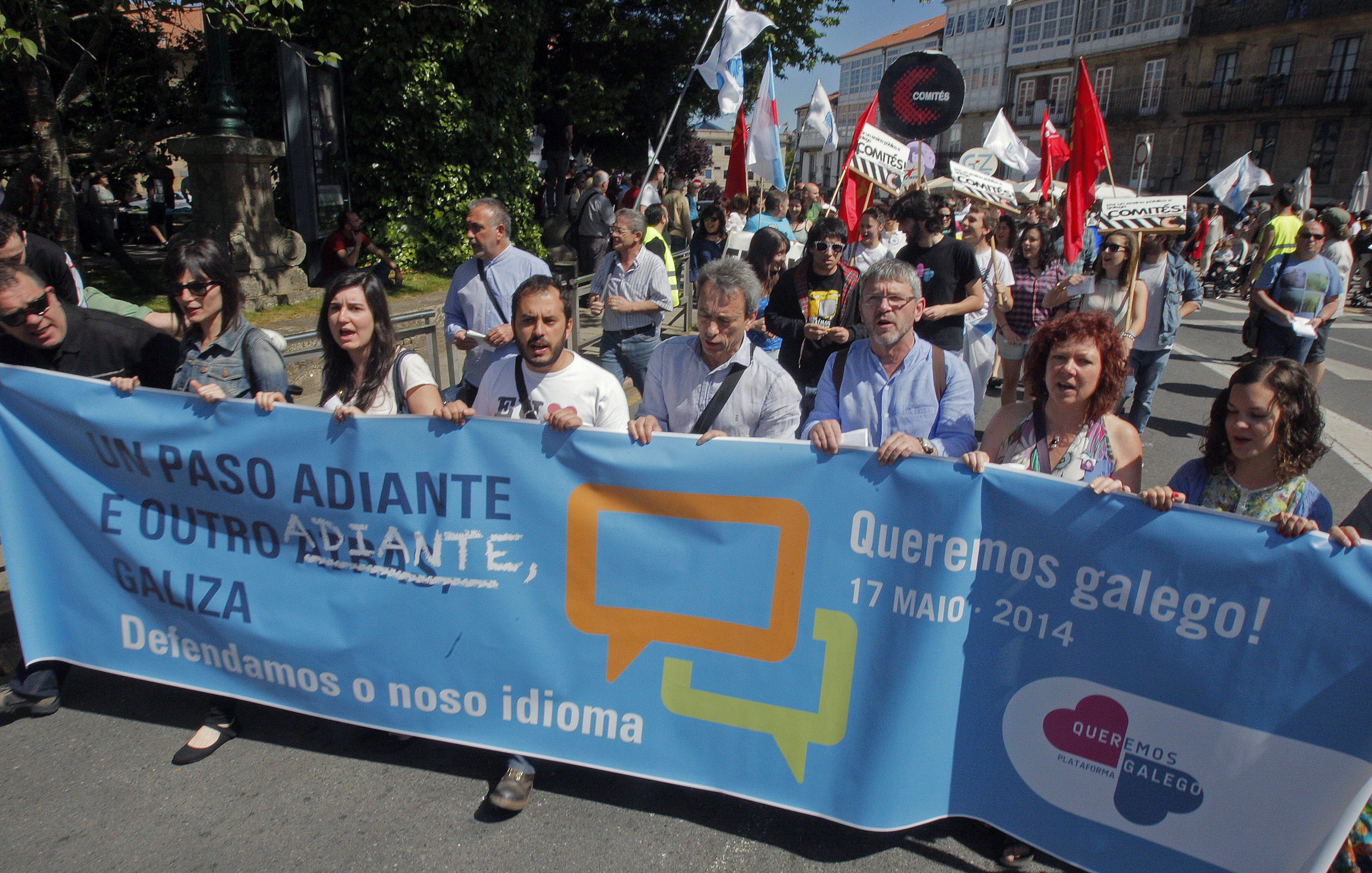 Miles de personas proclaman la defensa de la lengua propia en toda Galicia