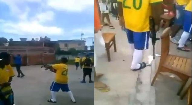 En las favelas de Río de Janeiro, los goles se celebran con un AK-47