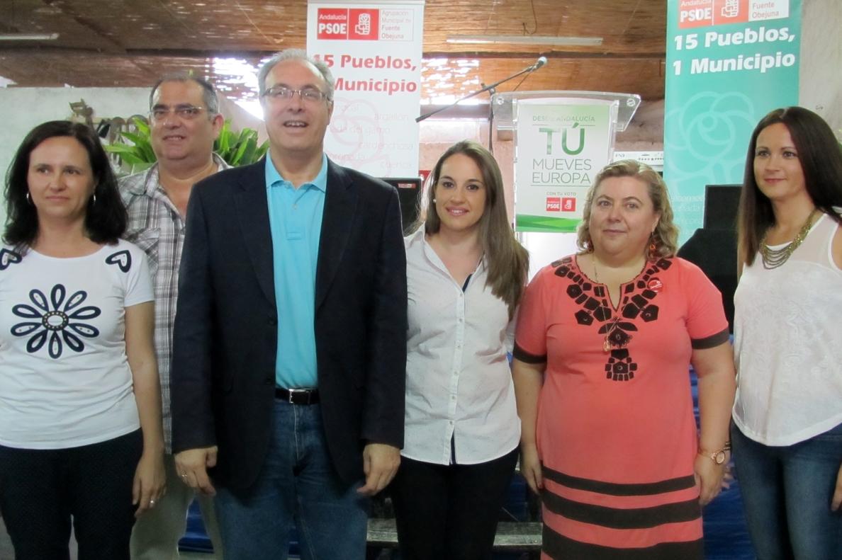 Aguilera (PSOE) pide el voto para el PSOE al objeto de «situar la prioridad en el empleo y las políticas sociales»