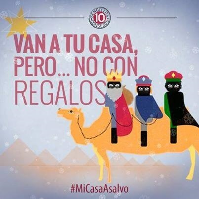 Interior aclara que su campaña »Mi casa a salvo» no representa a Reyes Magos negros, sino a ladrones con pasamontañas