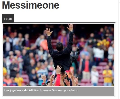 El diario argentino »Olé» quiere a Simeone en la selección