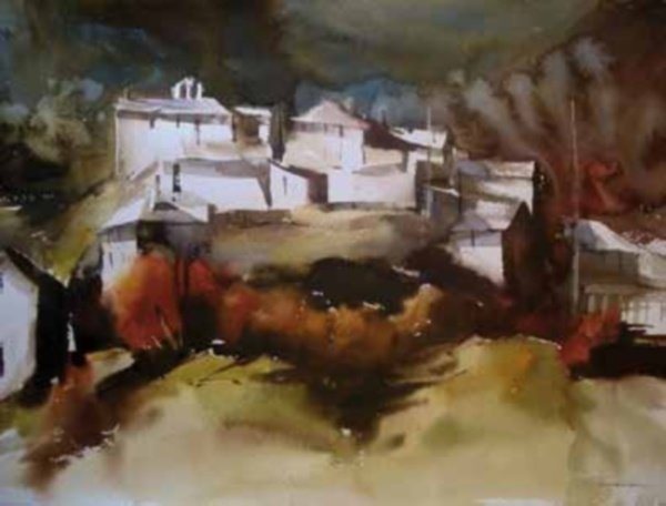 La Sala CAI en Huesca presenta una exposición de acuarelas de Manuel Macías