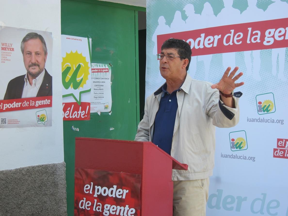 Valderas llama a la mayoría social a «enterrar el bipartidismo» y les pide que exprese «su rabia en las urnas»