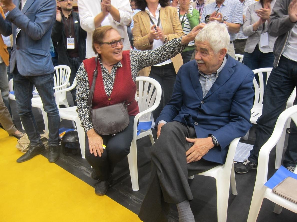 Pascual Maragall fue ovacionado en el acto central de campaña de ERC