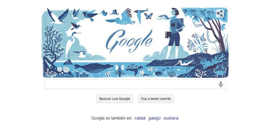 Google se suma a la lucha por el medio ambiente su último doodle dedicado a Rachel Louise Carson