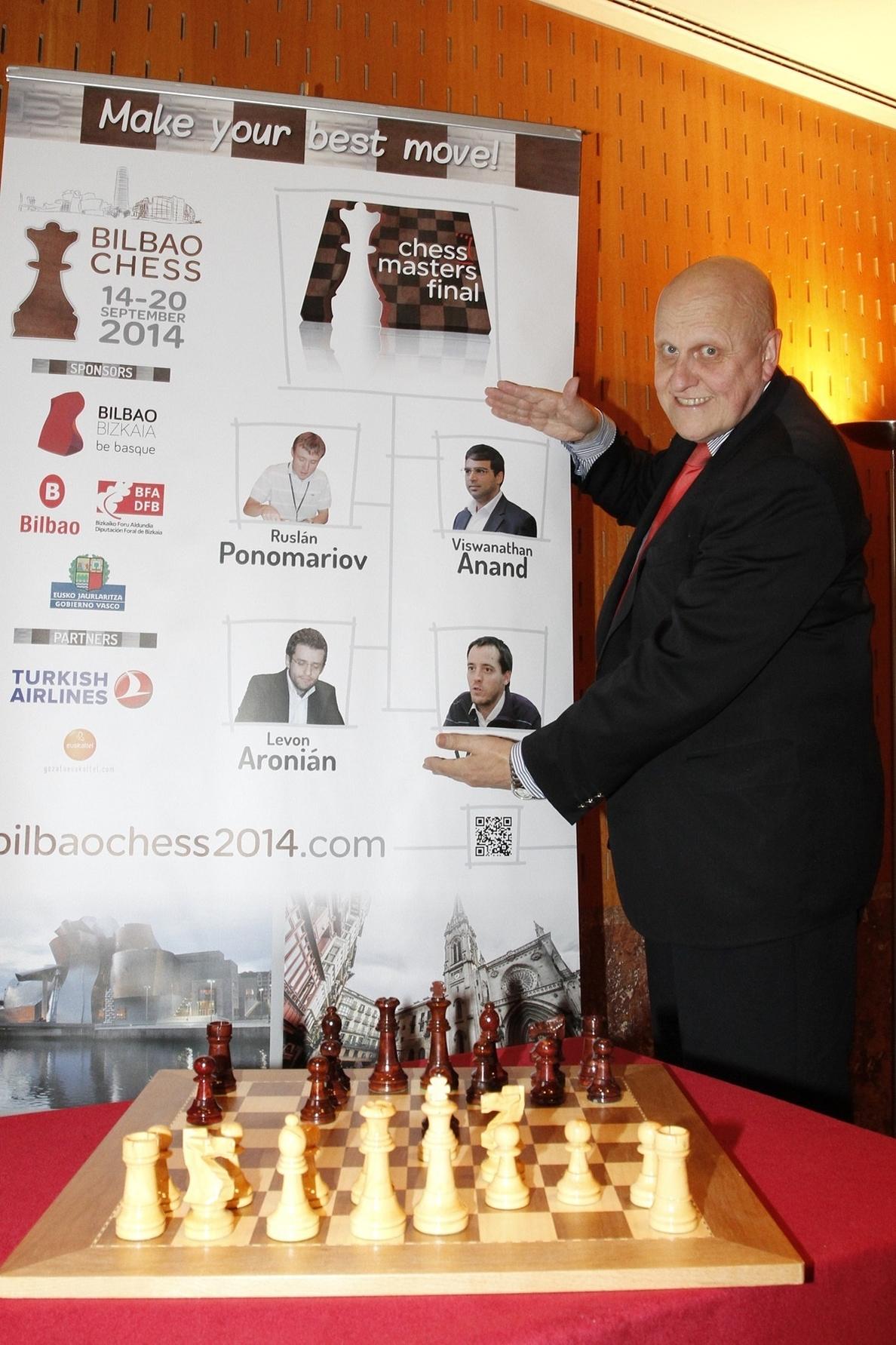 Anand, Ponomariov, Aronian y Paco Vallejo disputarán la Final de Maestros del Grand Slam en Bilbao