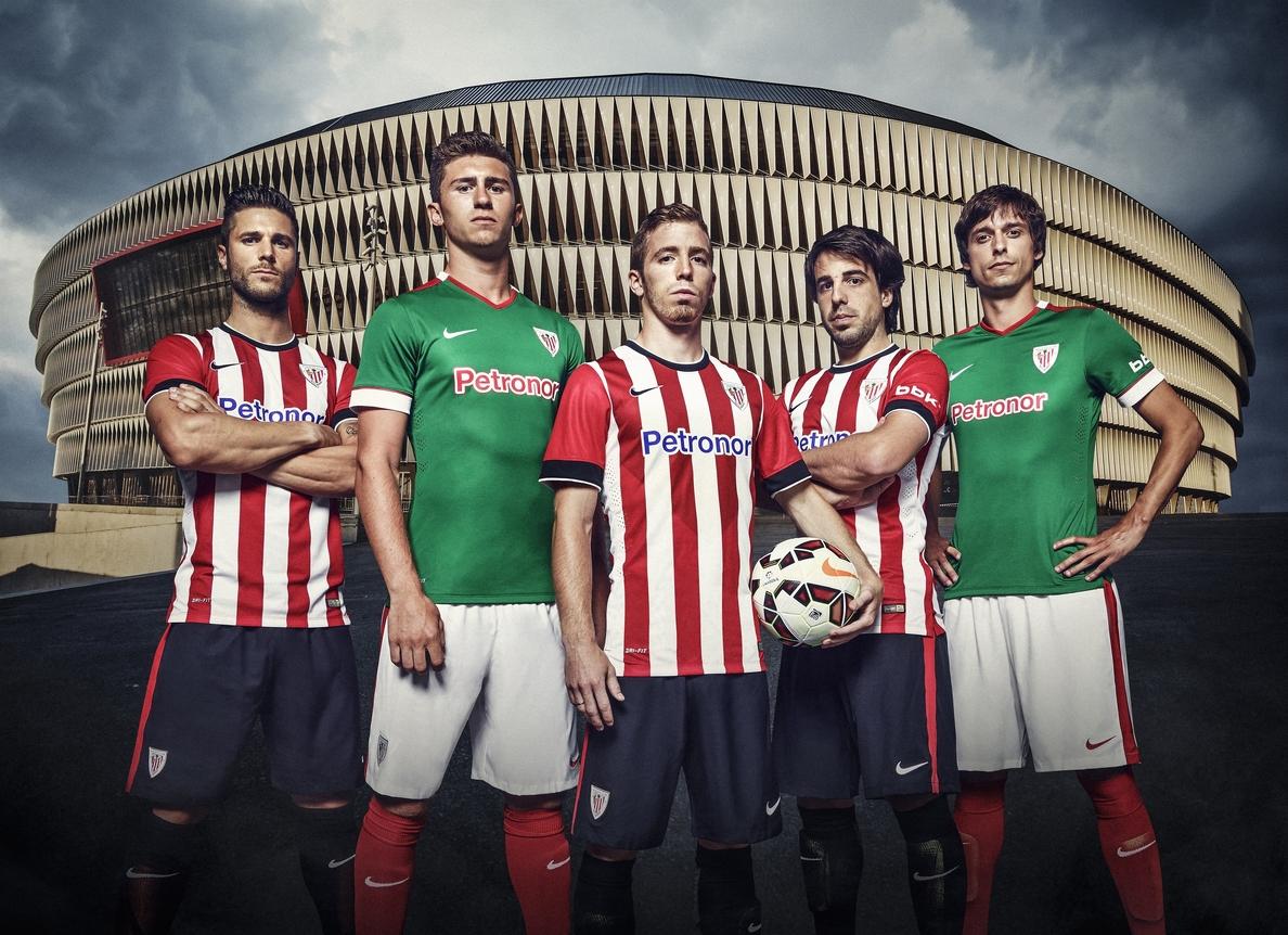 El Athletic lucirá un diseño clásico en sus nuevas equipaciones para la temporada 2014-15