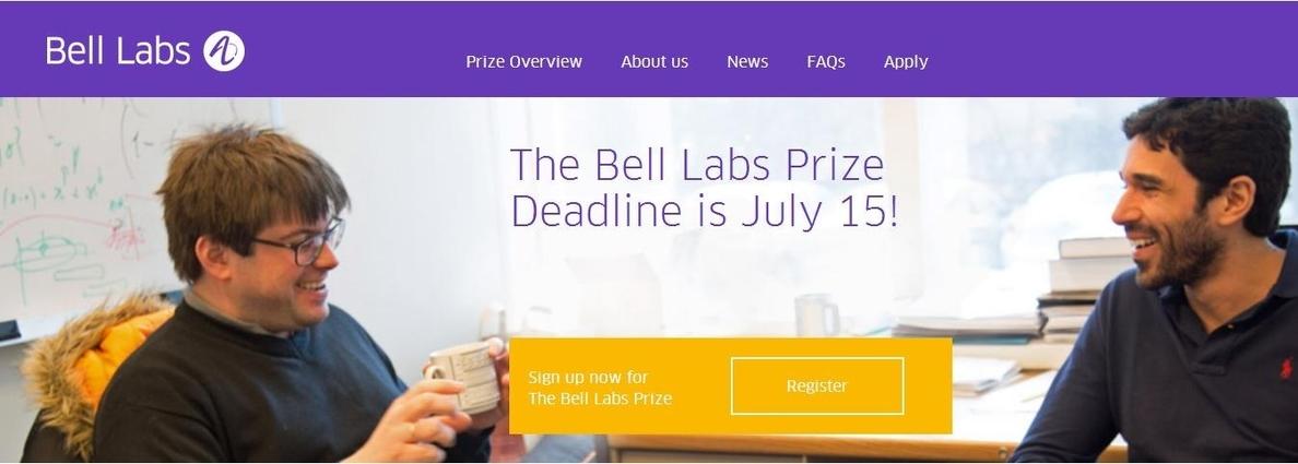 Bell Labs donará 100.000 dólares a la universidad del ganador del Premio Bell Labs