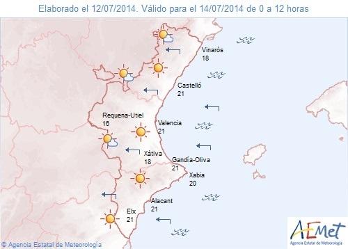 La Comunitat Valenciana empieza la semana con cielos despejados y temperaturas en ligero ascenso