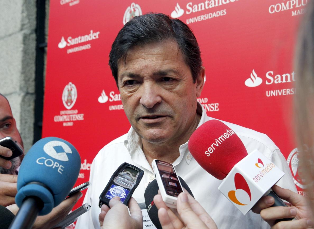 El presidente de Asturias garantiza su apoyo a Sánchez como secretario general