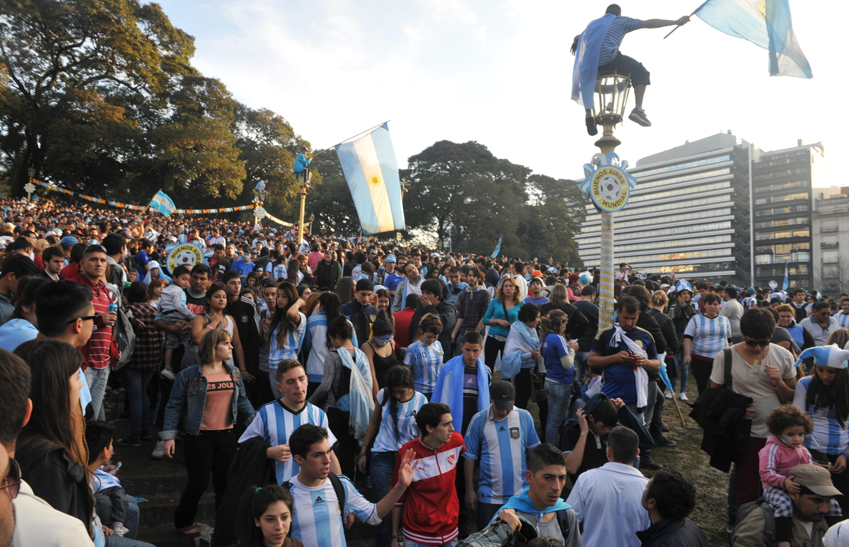 La selección argentina regresa a Buenos Aires tras el Mundial