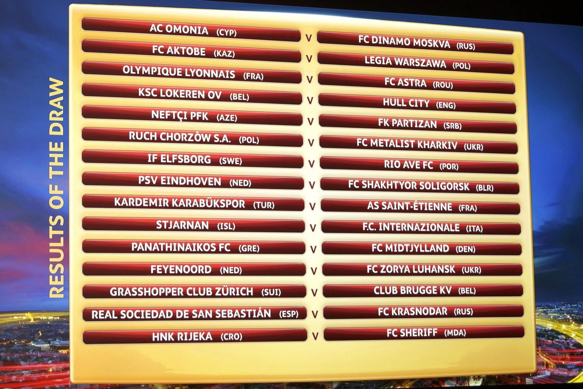 Astana-Villarreal y Real Sociedad-Krasnodar en el »play off» de la Liga Europa