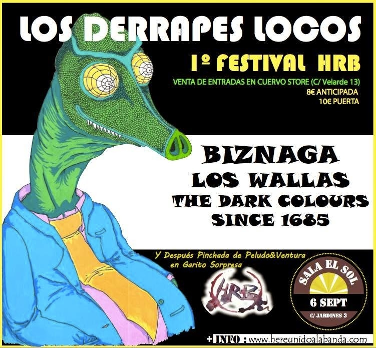 Biznaga, Los Wallas y The Dark Colours Since 1865, en el primer festival HRB