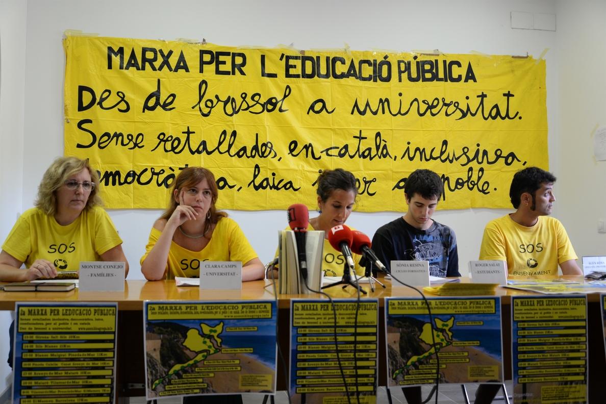 La II Marcha por la Educación Pública clamará contra la Lomce caminando de Girona a Barcelona
