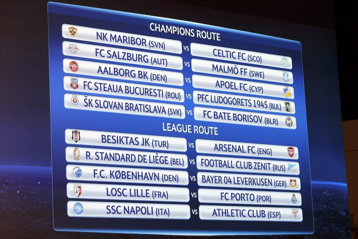 Nápoles-Athletic, el duelo estelar; Arsenal y Bayer los grandes beneficiados