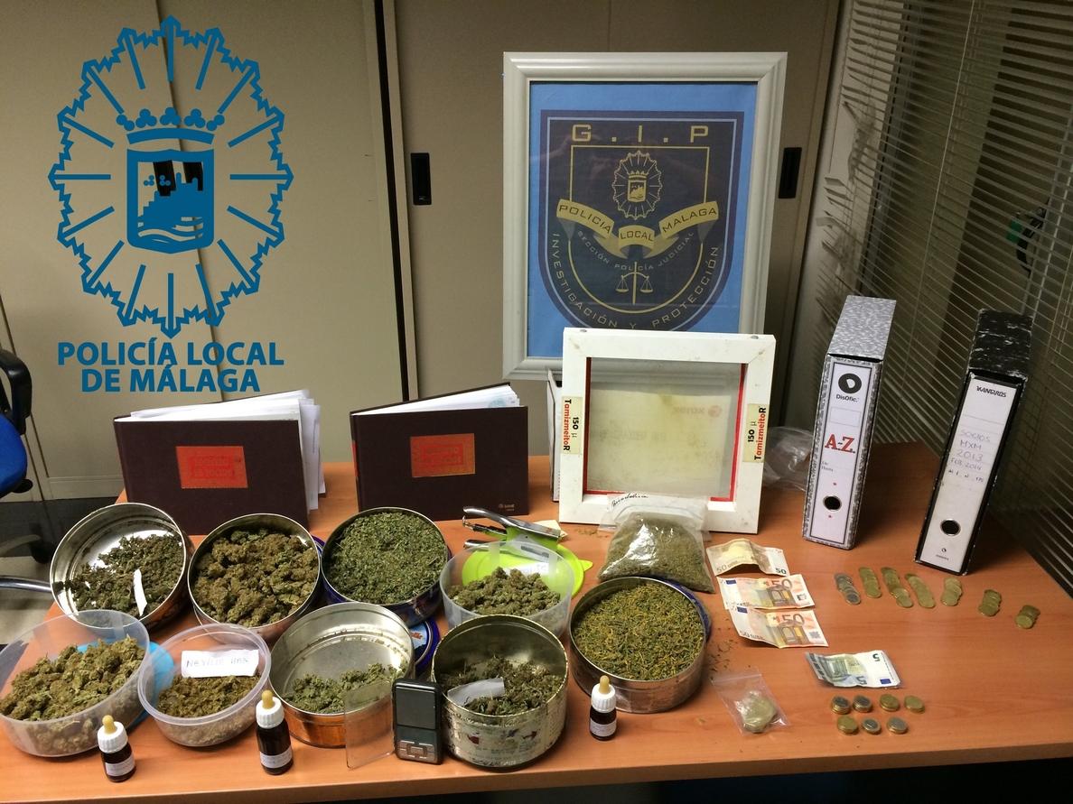 La Policía de Málaga desarticula dos asociaciones »pro cannabis» dedicadas a la venta de la droga
