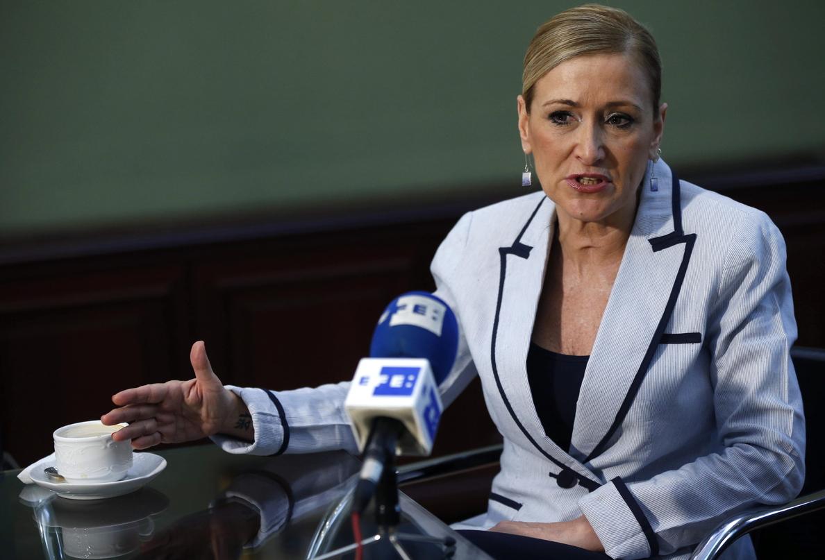 Cristina Cifuentes se avergüenza de Jaume Matas