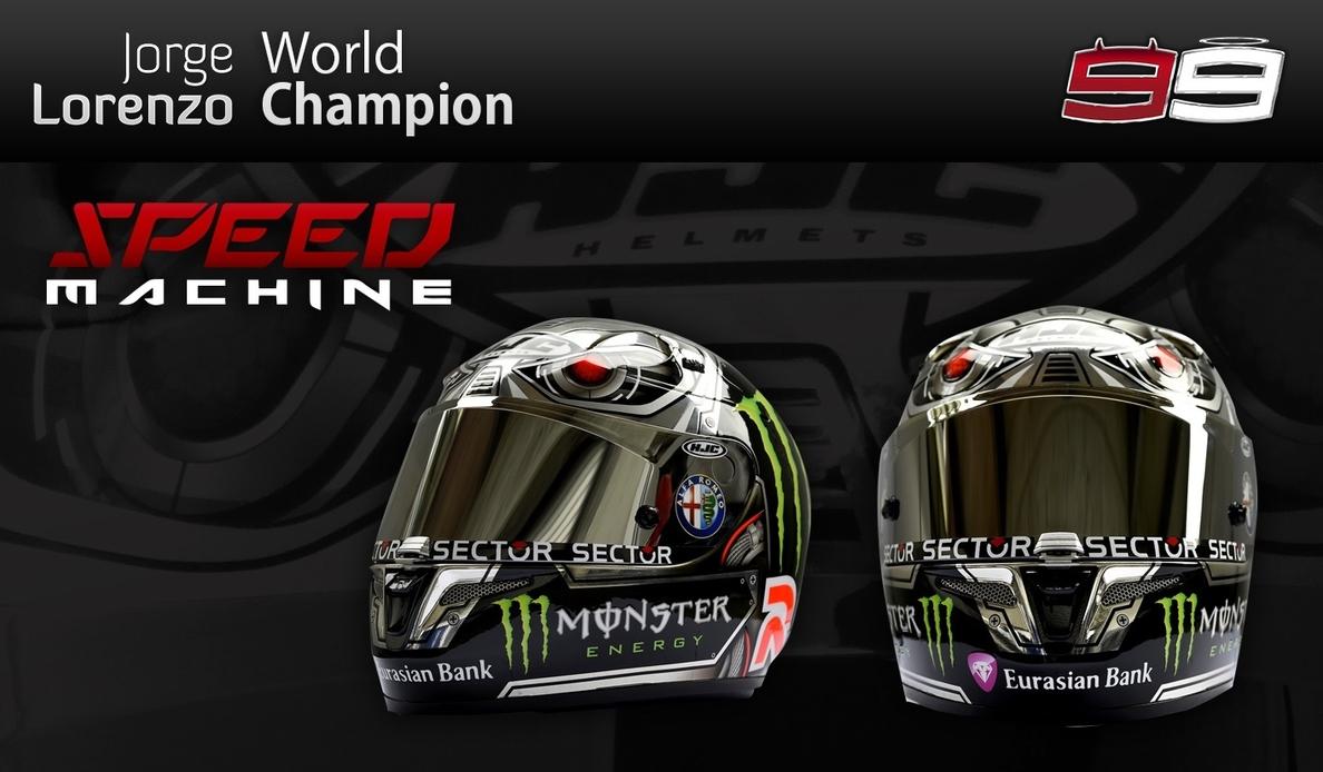 Lorenzo estrena casco en »Indy»