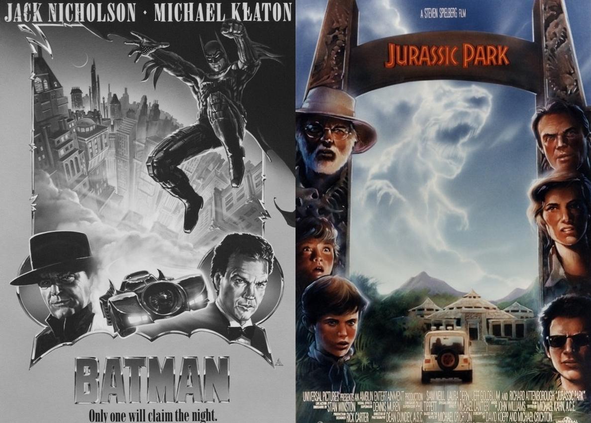 Sacan a la luz posters inéditos de Batman y Jurassic Park