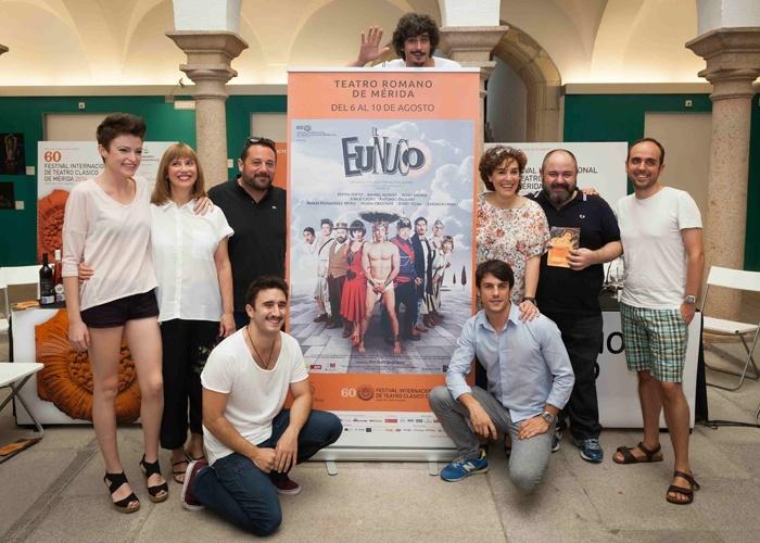 Pepón Nieto, Anabel Alonso y Alejo Sauras al Teatro Romano de Mérida con «El Eunuco»