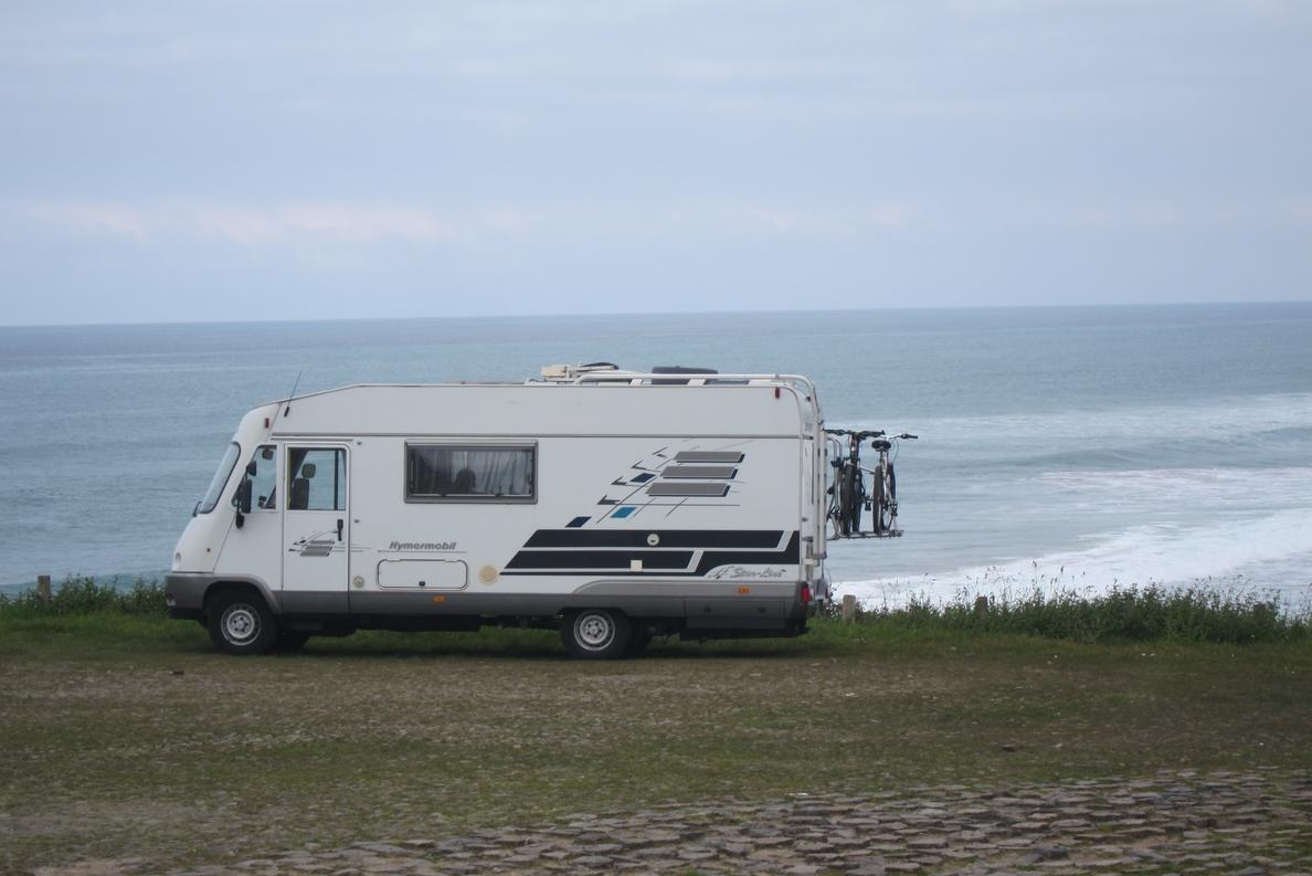 Una ruta de 40 autocaravanas con 85 participantes llega a Compostela tras recorrer las cuatro provincias gallegas