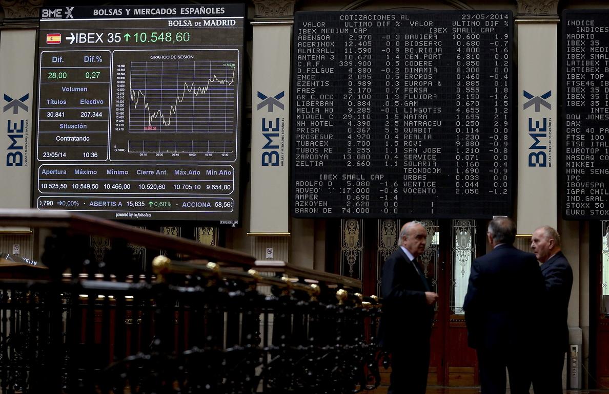 El IBEX rebota un 0,76 por ciento en la apertura y se acerca a los 10.200 puntos