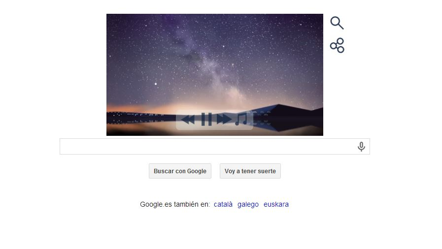 La lluvia de Perseidas cae sobre el último Doodle de Google